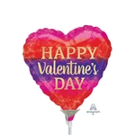 Valentine Watercolor Stripes Balloon
