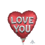 Satin Love You Balloon Letters Foil Balloon
