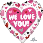We Love You Hearts - Heart Shape Balloon