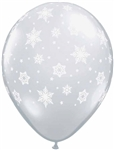 16in Snowflakes-A-Round DIAMOND CLEAR