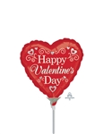 Valentine Swirls & Hearts Foil Balloon