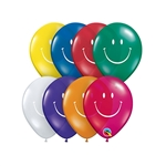 5 inch Qualatex SMILEY FACE  Jewel Assortment, Price Per Bag of 100