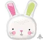 Hello Bunny Head Foil Balloon