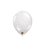 5 inch STARS A-Round DIAMOND CLEAR latex balloon by Qualatex