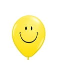 5 inch Qualatex Smiley Face YELLOW, Price Per Bag of 100