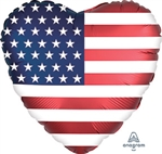 Heart Flag Foil Balloon