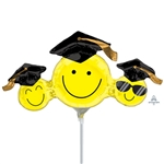 14 inch Happy Grad Faces Mini Shape