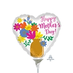 Mother's Day Gold Vase Balloon