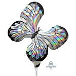 Iridescent Butterfly Holographic Balloon