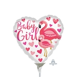 Flamingo Baby Girl Balloon
