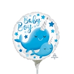 Narwhal Baby Boy Balloon