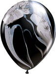 11 inch SuperAgate Qualatex BLACK and WHITE