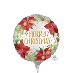 Christmas Poinsettia Balloon