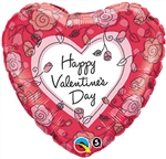 Valentine's Blooming Flowers Balloon