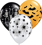 11 inch Spooky Design Assortment, Price Per Bag of 50
