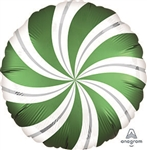GREEN Candy Swirl Balloon
