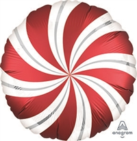 RED Candy Swirl Balloon