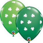 11 inch Big Shamrocks Assortment latex balloon