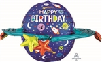 29 inch Happy Birthday Colorful Galaxy  Foil Balloon
