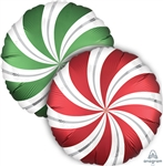 Green & Red Candy Swirls Balloon