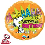 18 inch Peanuts Snoopy & Woodstock Another  Birthday