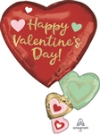 32 inch Valentine's Day Floating Hearts Foil Balloon