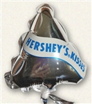 4in Hershey's Mini Chocolate Kisses Silver Foil Balloon