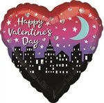 Valentine's Day Cityscape Balloon