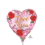 Love You Floral Balloon