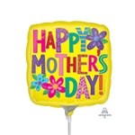 Mother's Day Bright Yellow Balloon