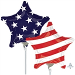 Stars & Stripes Star Shape Foil Balloon