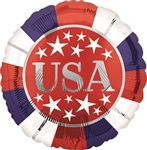 Red, White, Blue Foil Balloon