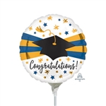 Blue & Gold Grad Balloon