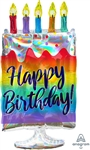 Iridescent Birthday Cake Balloon