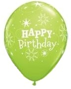 11 inch Qualatex Round Birthday Sparkle LIME