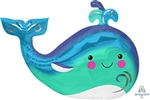 34 inch Happy Whale SuperShape Foil Balloon