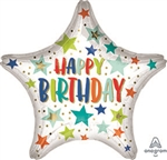 Birthday Stars & Dots Foil Balloon