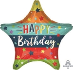Birthday Stars & Stripes Foil Balloon