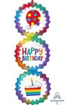Birthday Ombre Bursts Balloon