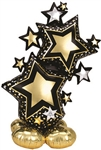 Black & Gold Star Cluster Balloon
