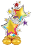 Colorful Star Cluster Foil Balloon
