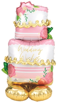 52 inch AirLoonz Wedding Cake - Foil Multi-Balloon
