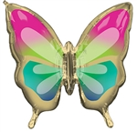 Tropical Butterfly Foil Balloon