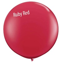 3 foot Qualatex Jewel RUBY RED