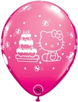 11 inch Qualatex HELLO KITTY Birthday