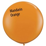 3 foot Qualatex Jewel MANDARIN ORANGE