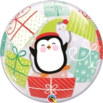 20 inch BUBBLE Penguins & Presents