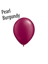 5 inch Radiant Pearl Burgundy latex balloons