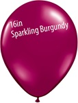 16 inch Qualatex Jewel SPARKLING BURGUNDY Latex Balloon
