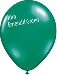 16 inch Qualatex Jewel EMERALD GREEN Latex Balloon